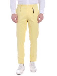 Ribbon Clothing - Pantalone in lino giallo con charm