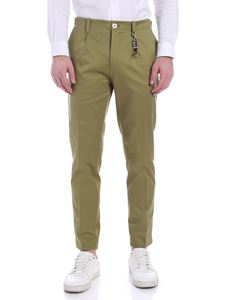 Ribbon Clothing - Pantalone verde con charm in vita