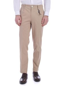 Ribbon Clothing - Pantalone beige scuro con charm