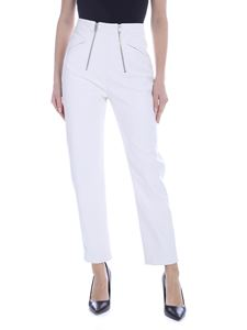 Stella McCartney - Pantalone in eco-pelle bianca con zip