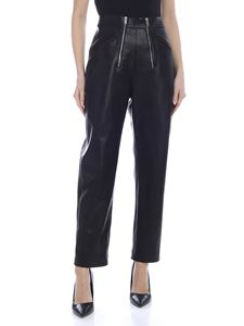Stella McCartney - Pantalone in eco-pelle nera con zip
