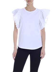 See by Chloé - White top with ruffle sleeves