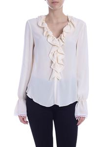 See by Chloé - Viscose and silk blouse in ivory color