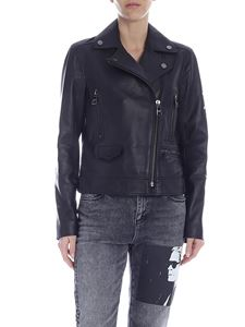 Karl Lagerfeld - Karl Legend leather biker in black