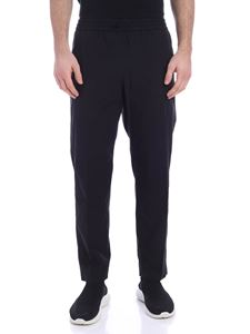 Kenzo - Tapered black pants with logo