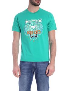 Kenzo - Classic Tiger T-shirt in emerald green color