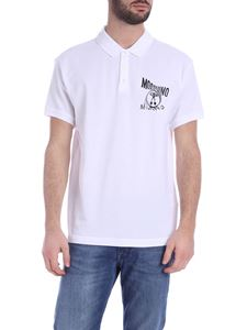 Moschino - Distorted Double Question Mark polo shirt in white