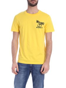 Moschino - Distorted Double Question Mark T-shirt in yellow