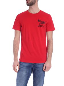 Moschino - Distorted Double Question Mark logo T-shirt in red