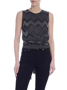 M Missoni - Multicolor lamé knit top in black