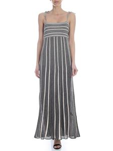 M Missoni - Multicolor lamè knit dress in nude and green
