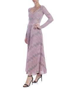 M Missoni - Multicolor lamè knit dress in antique pink