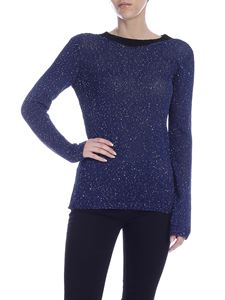 M Missoni - Sequins blue knit blouse