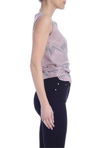 M Missoni - Multicolor lamè knit top in antique pink