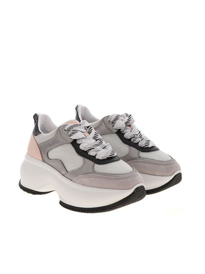 Hogan Spring Summer 2020 maxi active sneakers in grey and pink ...