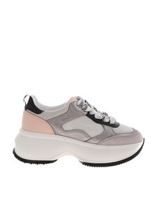 Hogan - Maxi Active sneakers in grey and pink