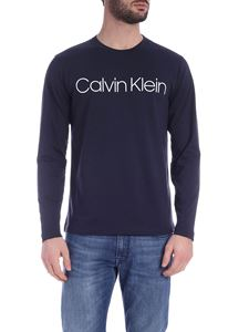 Calvin Klein - Long sleeve Logo T-Shirt in blue