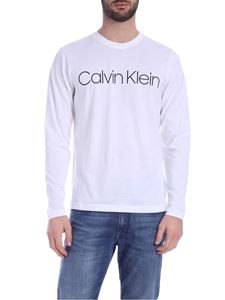 Calvin Klein - Long sleeve Logo T-Shirt in white