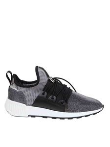 Sergio Rossi - SR1 Running sneakers in fabric in gray
