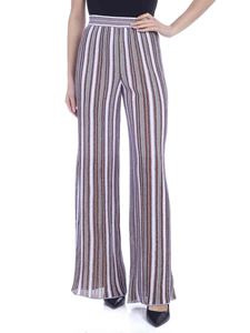 M Missoni - Knit palazzo pants in lilac, bronze and white