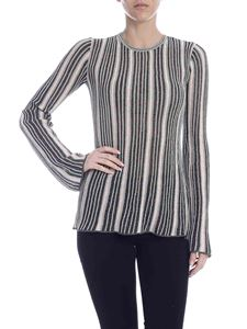 M Missoni - Multicolor lamè knit top in nude and green