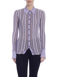 M Missoni - Lamé knit shirt in lilac color