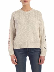 Kenzo - Cross stitch embroidery pullover in ecrù color