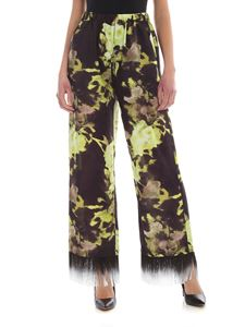 MSGM - Fringes pants in black and green