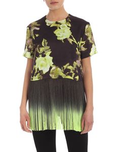 MSGM - Fringes top in black and green