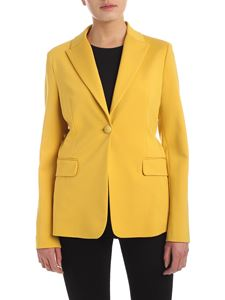 Pinko - Sigma single-breasted jacket in yellow