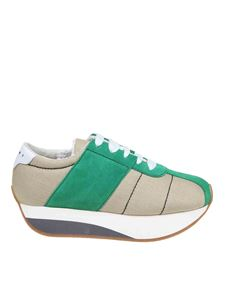 Marni - Bigfoot cordura sneakers in beige
