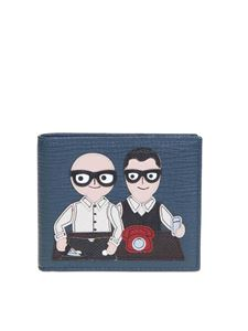 Dolce & Gabbana - Designers' Patch wallet in blue