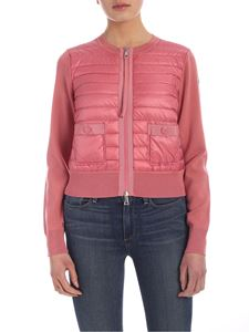 Moncler - Padded insert cardigan in pink