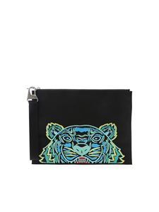 Kenzo - Tiger clutch bag in black