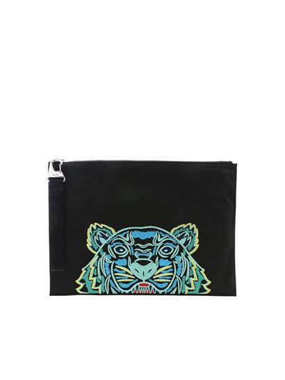 Kenzo - Tiger document holder in black