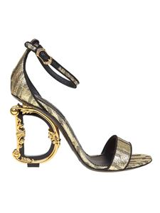 Dolce & Gabbana - Baroque DG heel sandal in golden color