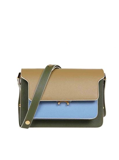 Borsa Trunk In Pelle Tricolore