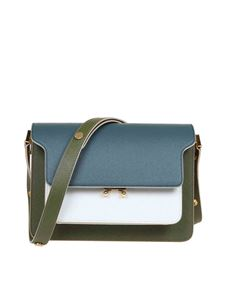 Marni - Trunk bag in light blue green and white leather
