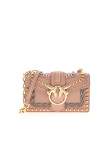 Pinko - Borsa Love Mini Mix Stud rosa antico