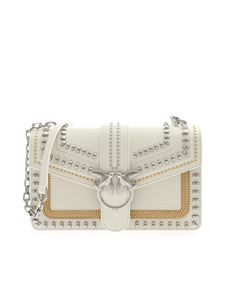 Pinko - Love Classic Mix Stud bag in ivory color