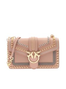 Pinko - Love Classic Mix Stud bag in antique pink