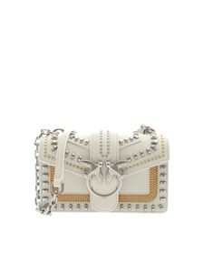Pinko - Love Mini Mix Stud bag in ivory color
