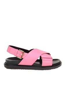 Marni - Criss-cross Fussbett in pink
