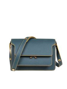 Marni - Trunk minibag in teal blue color