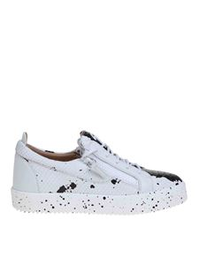 Giuseppe Zanotti - May sneakers in white with black spots