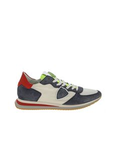 Philippe Model - Trpx L sneakers in white and blue