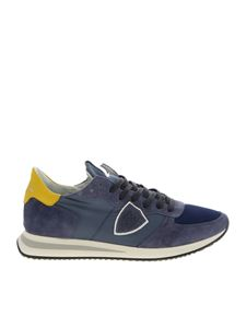 Philippe Model - Trpx sneakers in blue with yellow heel tab