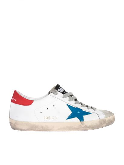 Golden Goose - Superstar sneakers in white and red