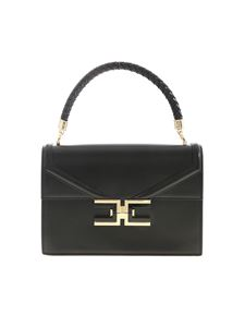 Elisabetta Franchi - Metal logo bag in black