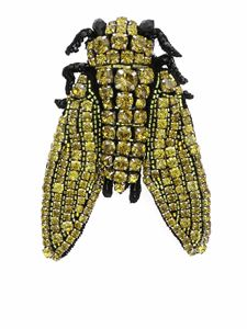 Rochas - Fly brooch in yellow and black
